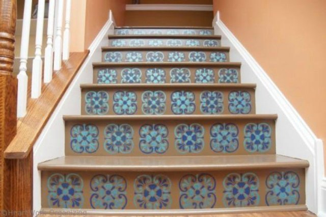 stencil stair riser