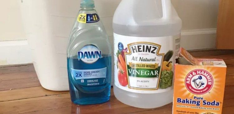 Products for a Pinterest cleaning hack.