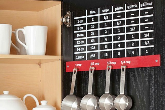 measuring cup cabinet