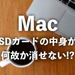 【Mac】SDカードのデータが空の筈なのに容量が埋まっている場合の対応方法!