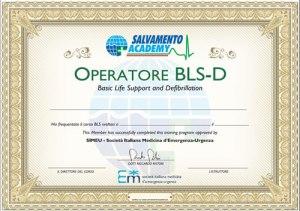Attestato Operatore Primo Soccorso BLS-D