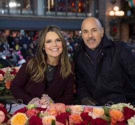 THE 91ST ANNUAL MACY'S THANKSGIVING DAY PARADE -- Pictured: (l-r) Today Co-Anchors Savannah Guthrie, Matt Lauer -- (Photo by: Eric Liebowitz/NBC)