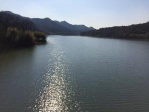 黒郷橋からの千丈寺湖。