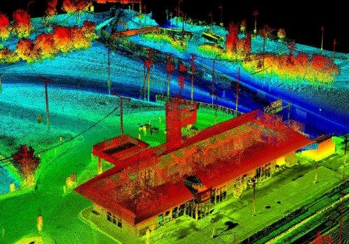 LIDAR of Dorval Via station in Montreal, Quebec