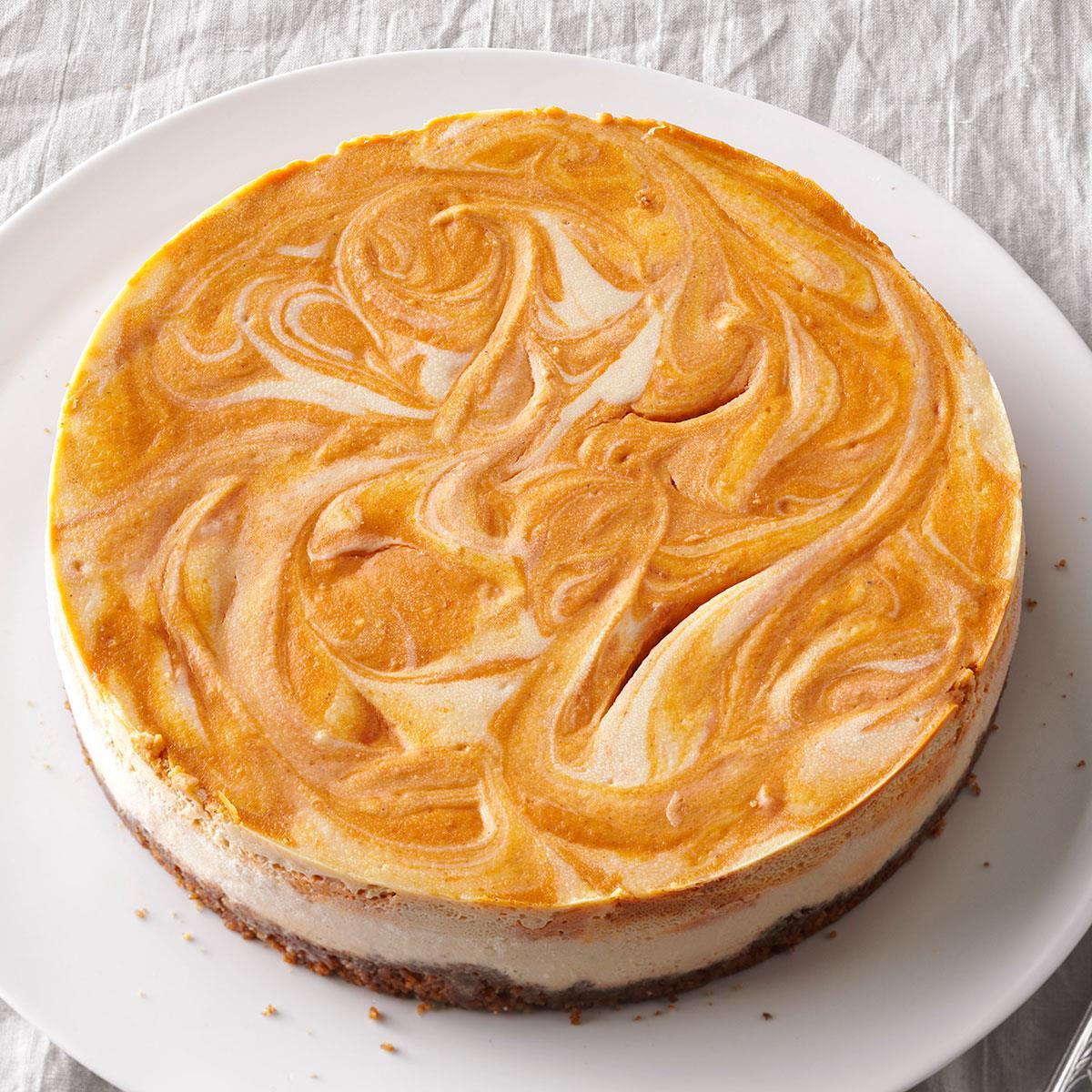 Incredible Spiced Pumpkin Swirl Cheesecake Exps125361 Th132104b06 21 1bc Rms Pumpkin Swirl Cheesecake Brownies Pumpkin Swirl Cheesecake Pie nice food Pumpkin Swirl Cheesecake