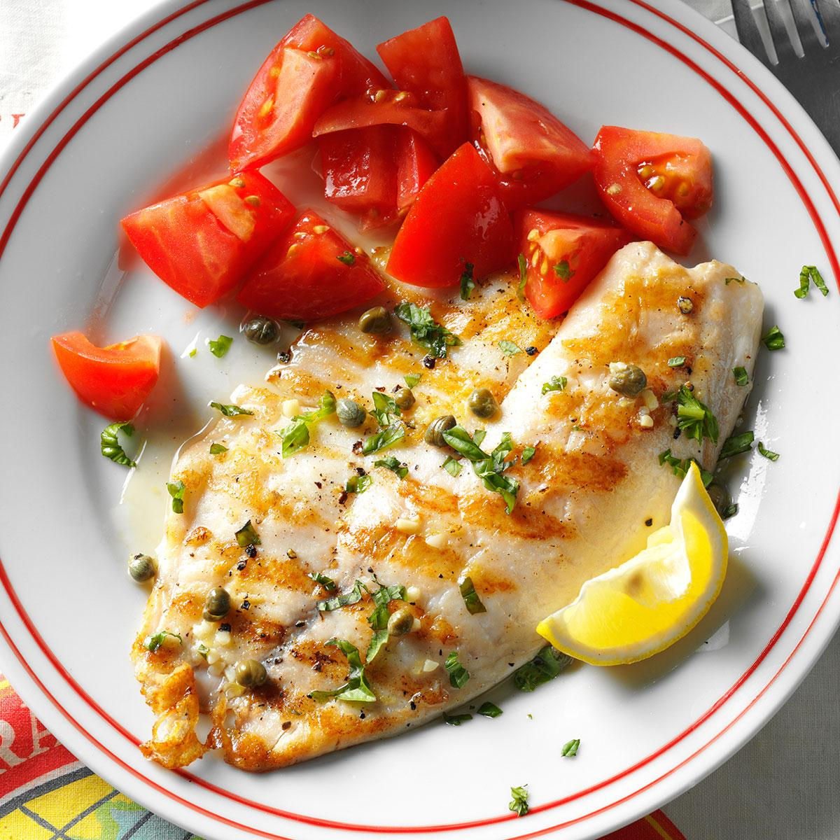 Thrifty Home How To Grill Tilapia On Stove How To Grill Tilapia Fillets Grilled Tilapia Piccata Recipe Taste Oven nice food How To Grill Tilapia