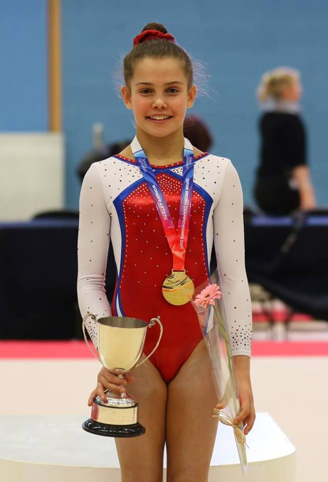Annie with bar trophy