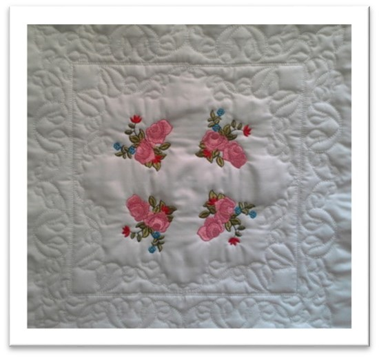 English Rose Garden QAUG Large Blocks Tutorial