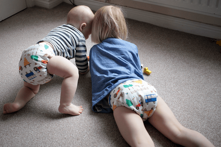 Two squishy bums in Tots Bots Joules EasyFit