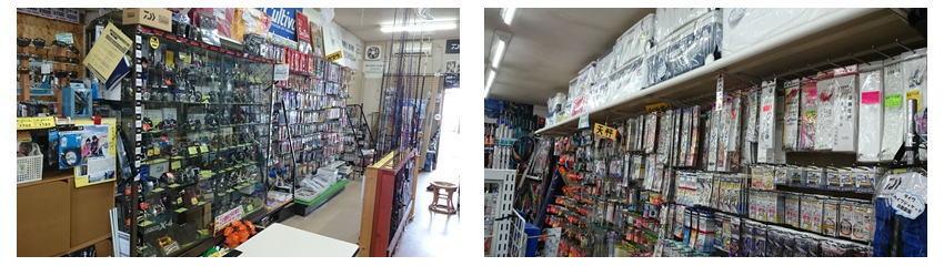 戸田釣具店のジグやラインなど店内画像