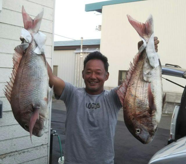 湯の尻沖 真鯛キタ===(>_<)