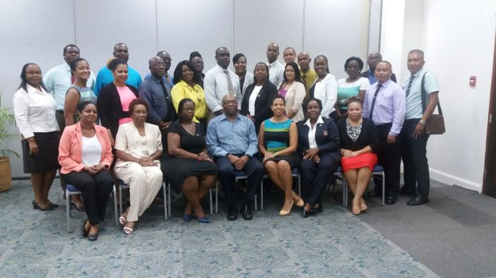 CARICOM Border officials with CARICOM Secretariat Members of Staff