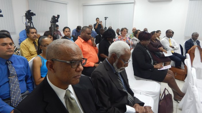 A section of the audience at the demonstration of the Caribbean Video Assistance Service