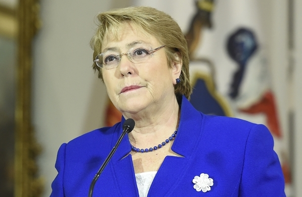 President of Chile,  Michelle Bachelet (Photo via www.prensa.presidencia.cl)