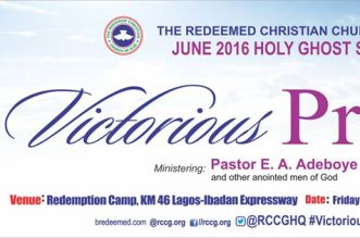 RCCG June 2016 Holy Ghost Service