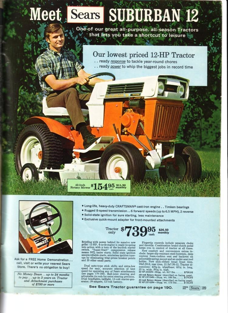 history of craftsman tractors