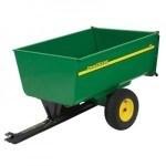 John Deere Garden Cart. 1,650 lb. 18 cu. ft. Tow-Behind Steel Utility Cart