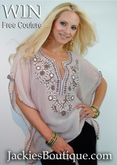 Designer Couture Giveaways at Jackie's Boutique Couture Collection
