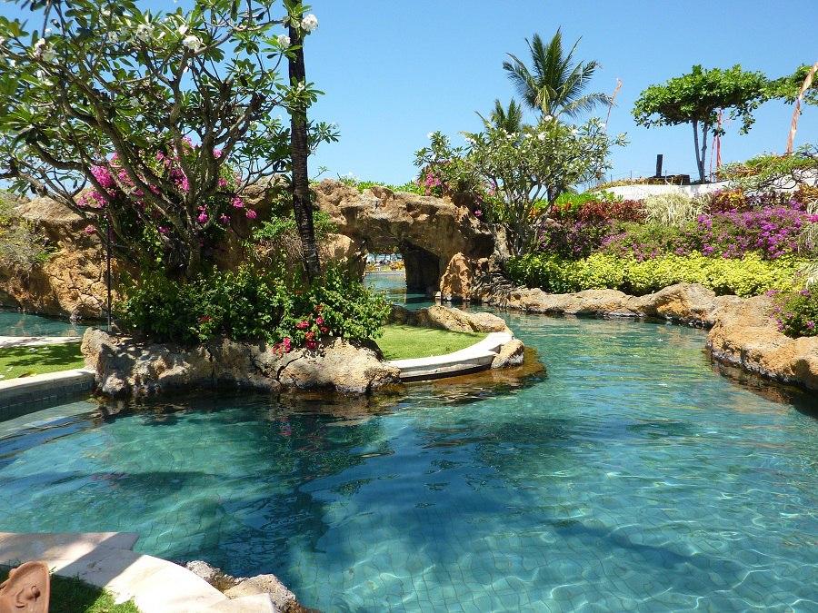 The pool at Grand Hyatt Bali in Nusa Dua