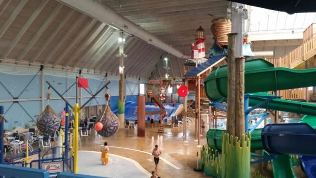 Blue Harbor Resort - waterpark - view from above