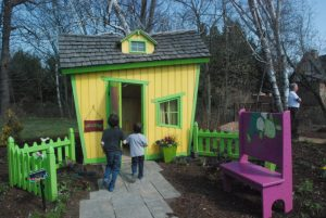 Bookworm Garden #Sheboygan - yellow house