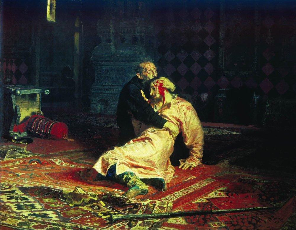 Ilya Repin Ivan the Terrible and His Son Ivan on November 16, 1581