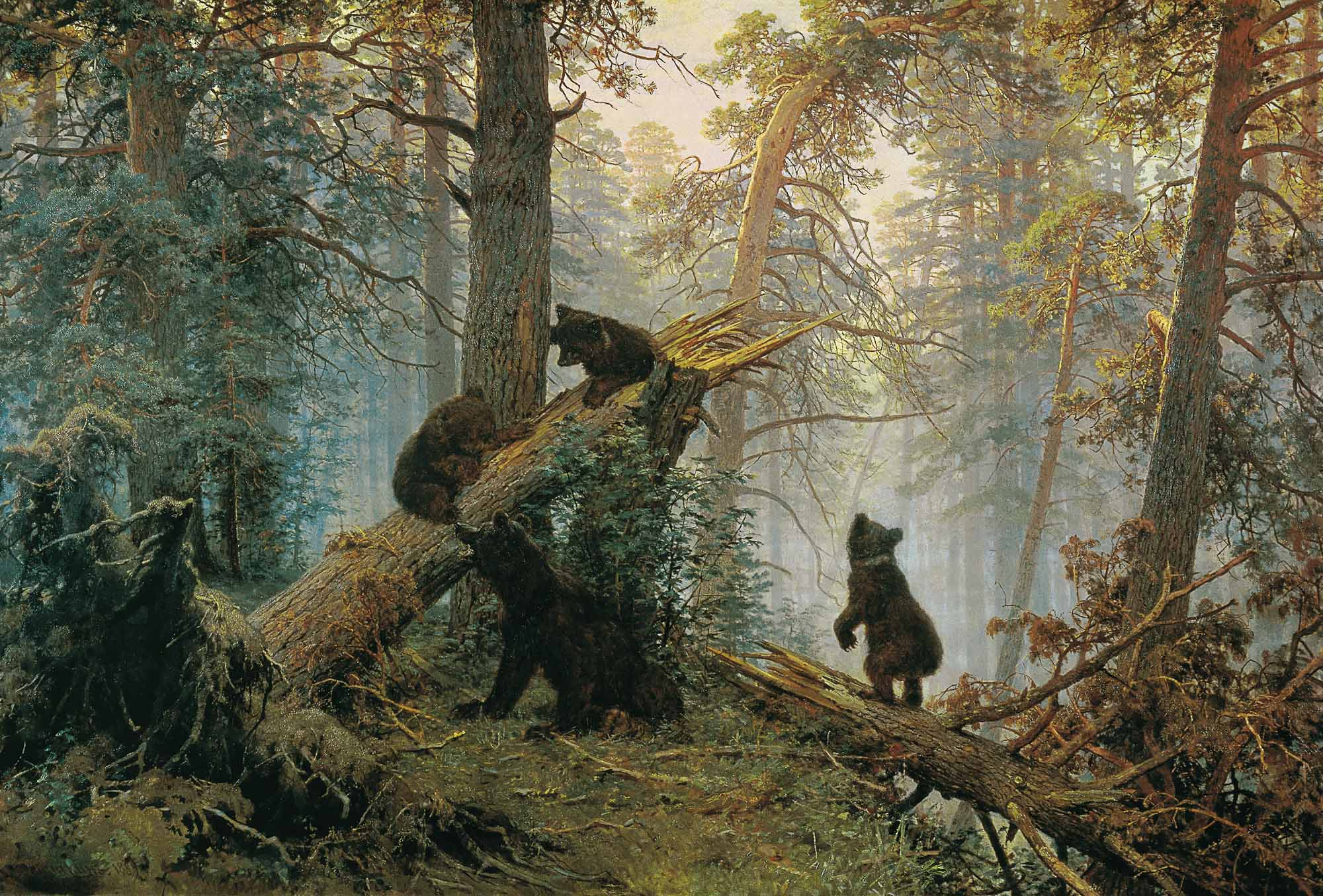 Ivan Shishkin - Morning in a pine forest, oil on canvas (1889)