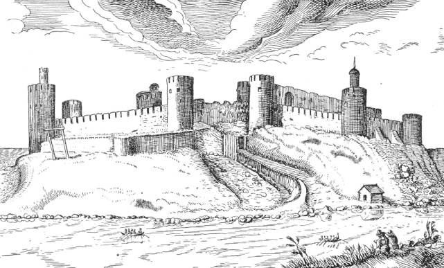 The view of Ivangorod Fortress from the north. A. Goeteris (1615)