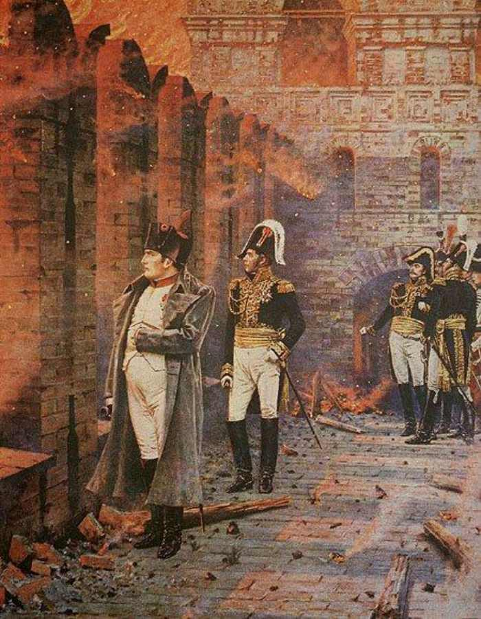 Vasily Vereshchagin. In the Kremlin - A Fire