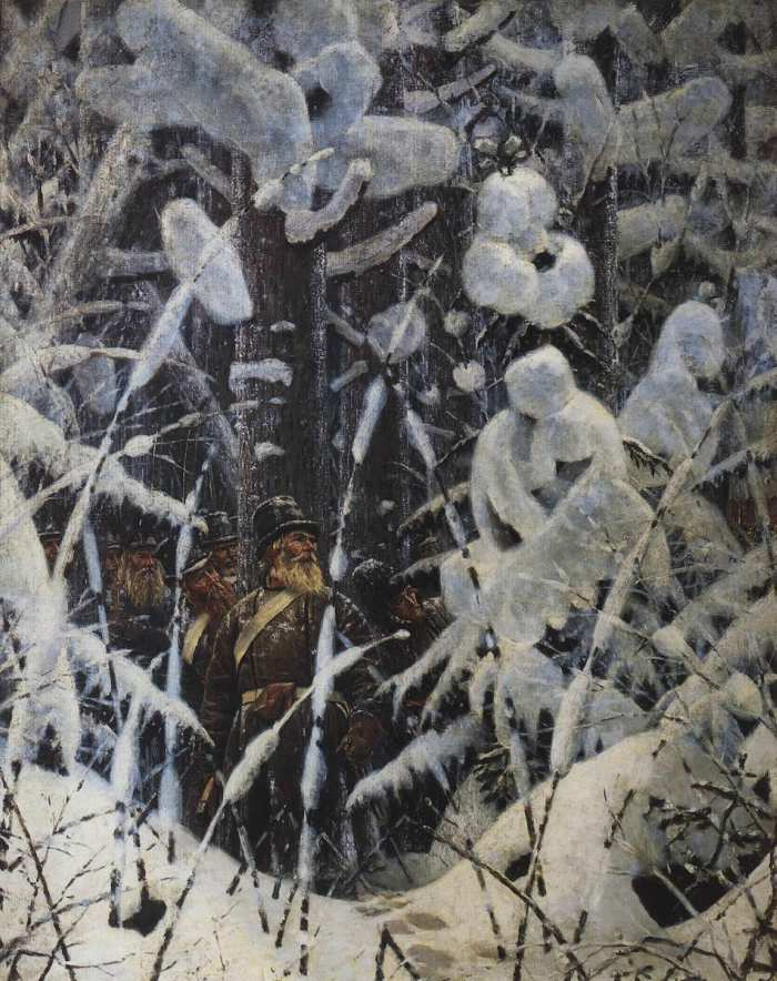 Vasily Vereshchagin. Wait. Let them come nearer