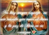 Imágenes cristianas con frases: El amor y la paz de Dios en tu corazón
