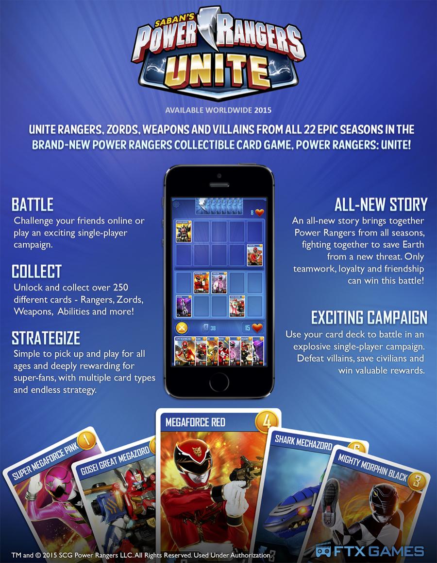 """Power Rangers: Unite"" Mobile Game Announced"