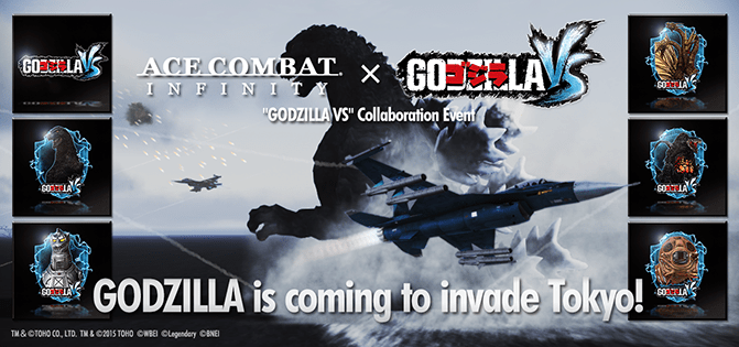 Godzilla Appears as Easter Egg in Ace Combat Infinity