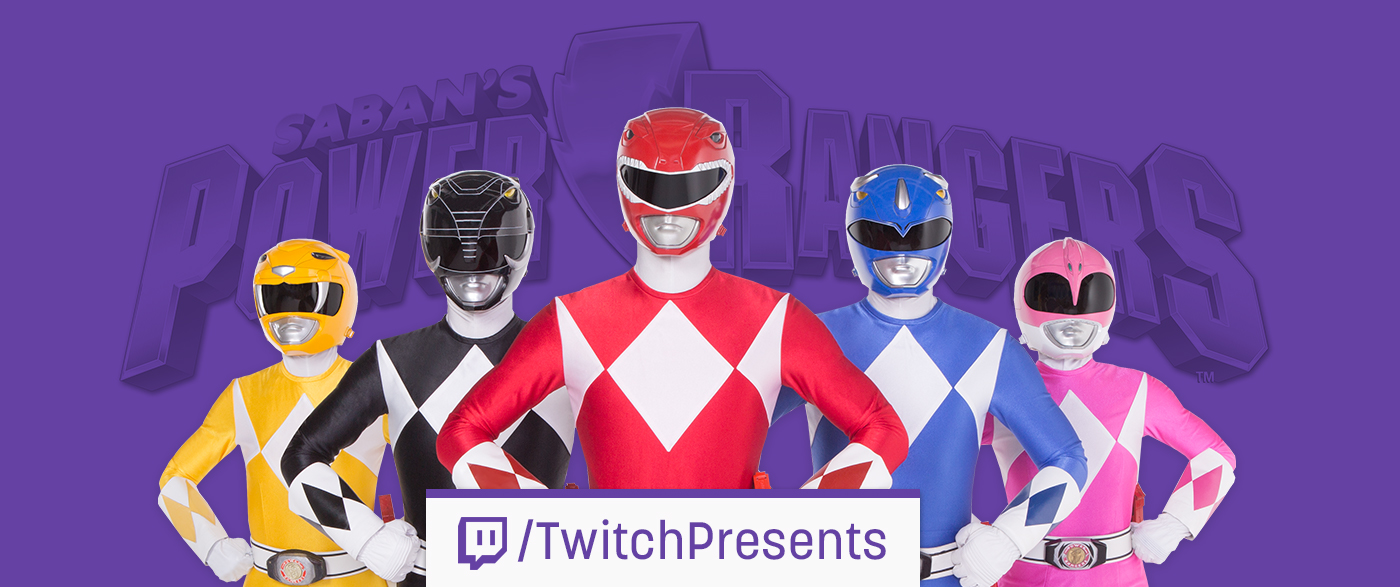 Twitch Presents Announces an Official Power Rangers Marathon