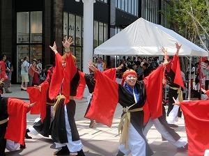 Dancing at the Uraja Odori in Okayama (photo courtesy of http://www.fluffyair.com/crow.html)