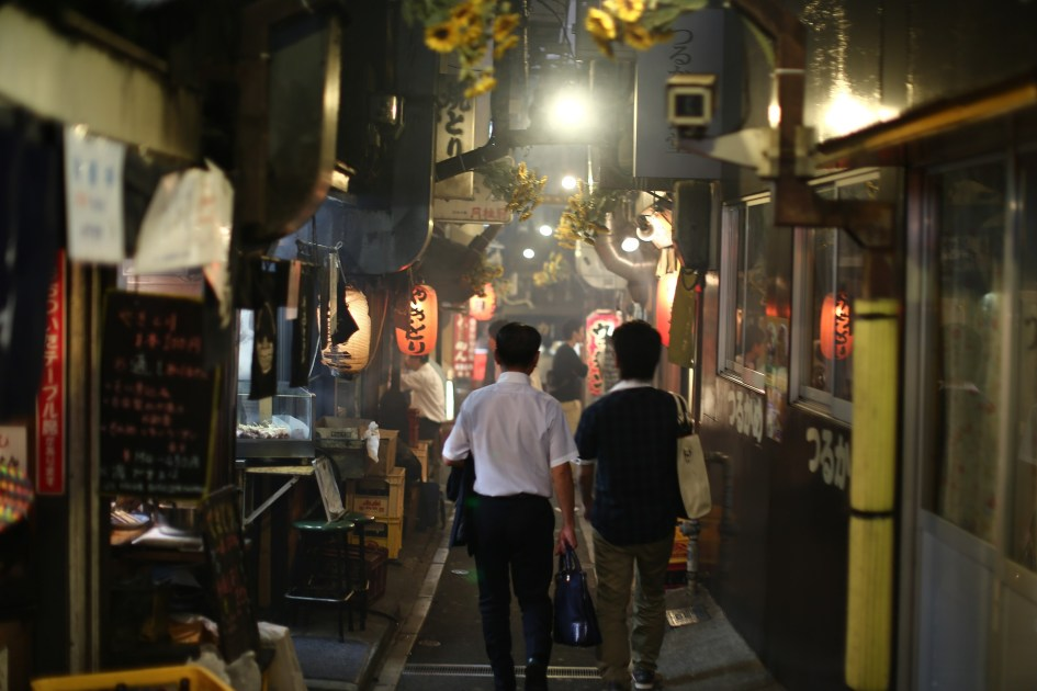 "Walking through Shinjuku's Omoide Yokocho, or ""Piss Alley"""