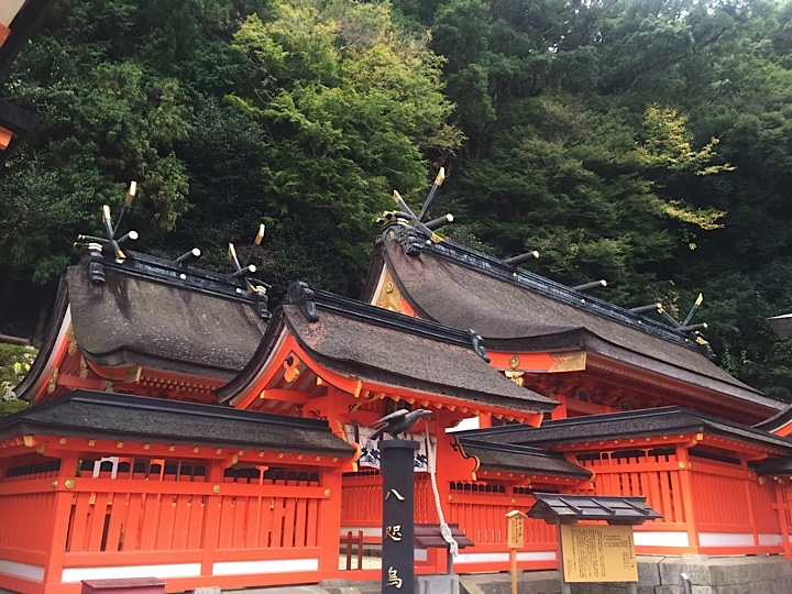 The beautiful Kumano Nachi Taisha shrine not far from the waterfalls and pagoda