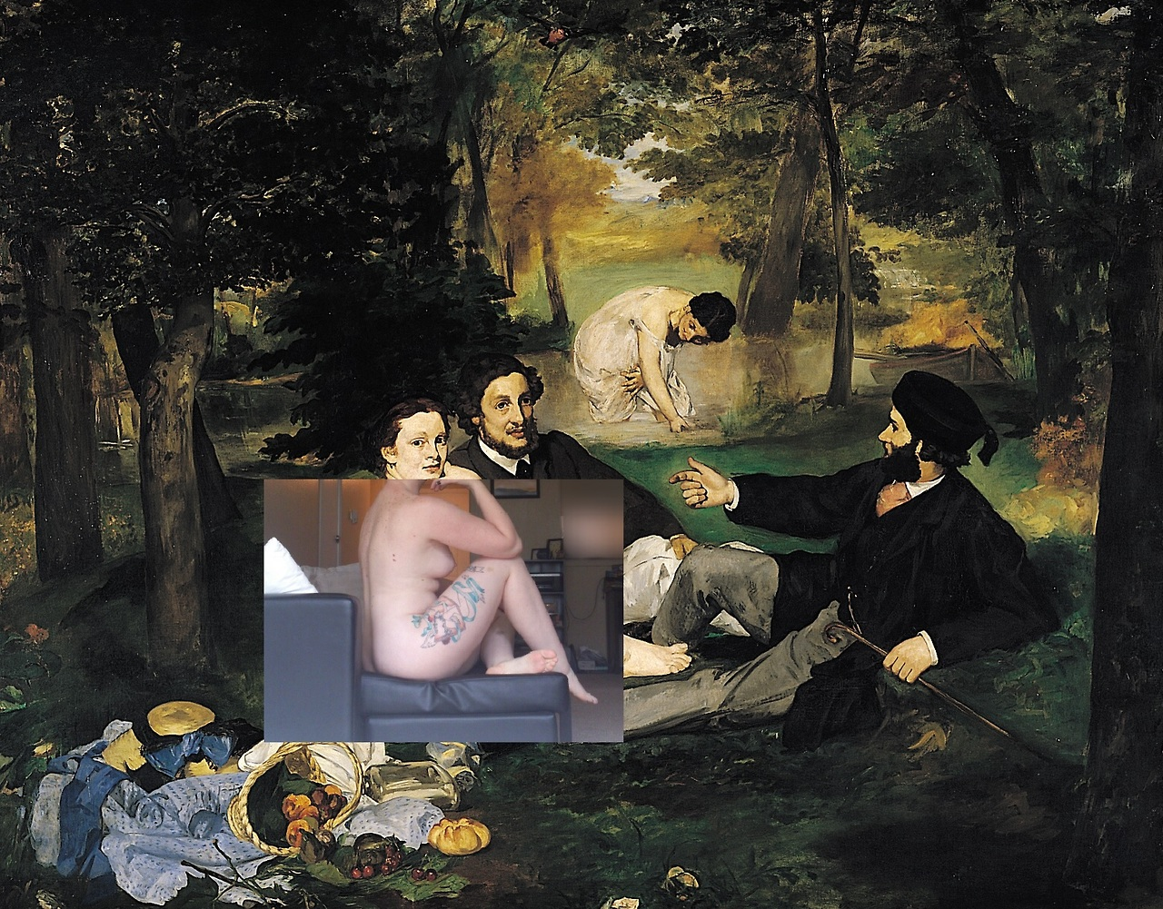 camgirls-project-in-progress-2013-Edouard-Manet-Luncheon-on-the-Grass-1863-X-misswaywardheart