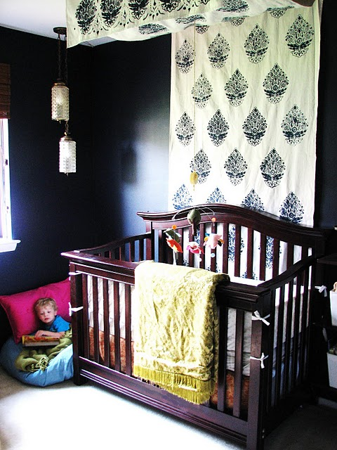 Reader s query more on flat fabric canopy beds for Diy canopy over crib