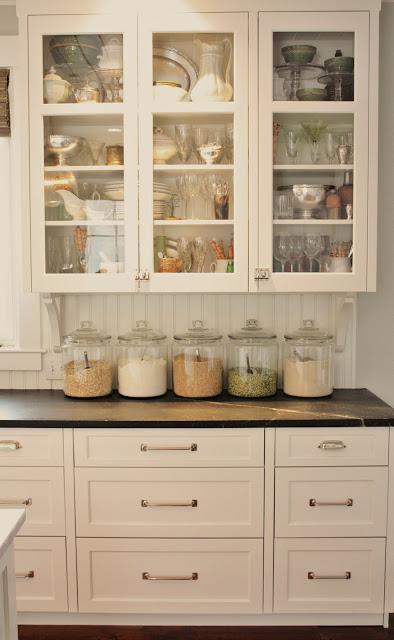 Joan's kitchen glass door cabinets