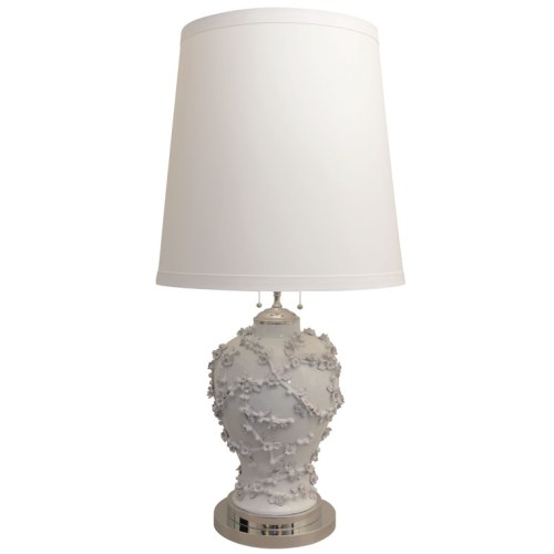 blanc de chine lamp via 1st dibs Prime Gallery $1500
