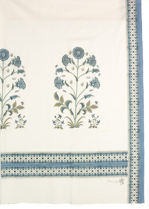 Blue Hibiscus Cotton