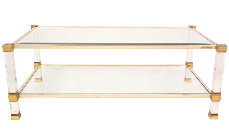 Clear Choice…Modern Brass, Glass and Lucite Coffee Tables