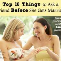10 Things to Ask a Friend Who is About to Get Married