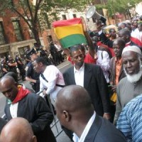 Guinean's and supporters march in the streets of Manhattan following the September 28th killings.