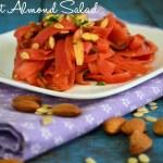 Carrot Almond Salad Recipe   Easy Salad Recipes