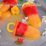 Orange Strawberry Popsicles Recipe | Easy Dessert Recipes