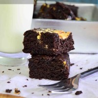 One Bowl Triple Chocolate Coffee Brownie Recipe | Easy Eggless Brownie Recipes