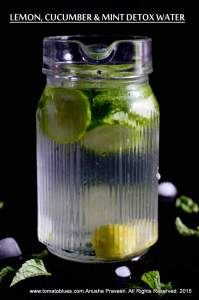 Lemon, Mint and Cucumber Infused Detox Water