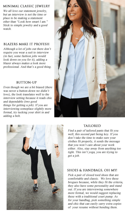 What to Wear to an Interview - TOMBOY KC